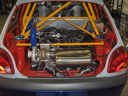 Rear-Engined Cosworth-Powered Fiesta