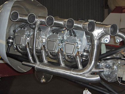 Stainless Steel Exhaust for 80% Scale Spitfire Plane