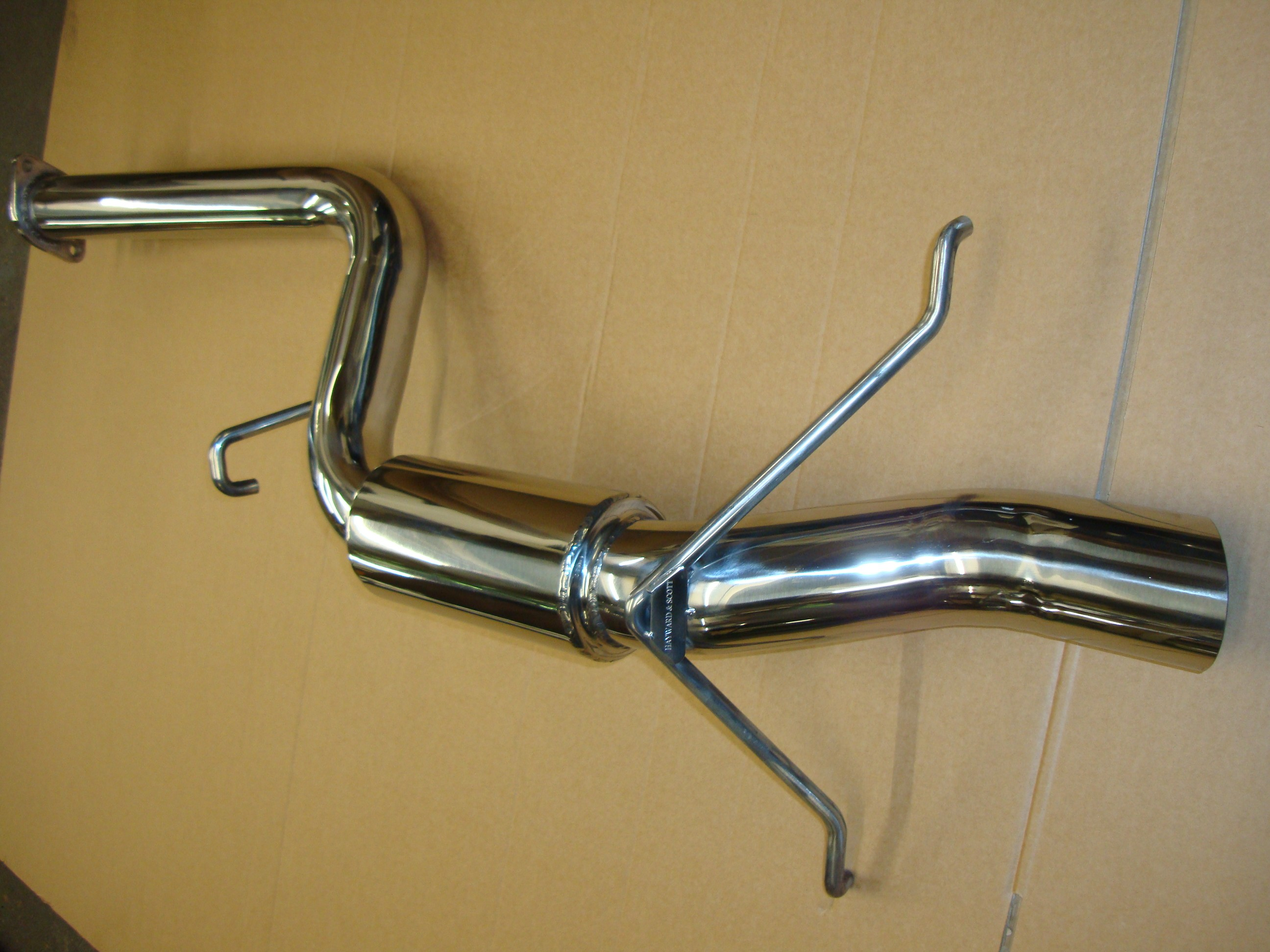 "Subaru Impreza Classic 2.5"" Group A Replica Rear Silencer - Polished"