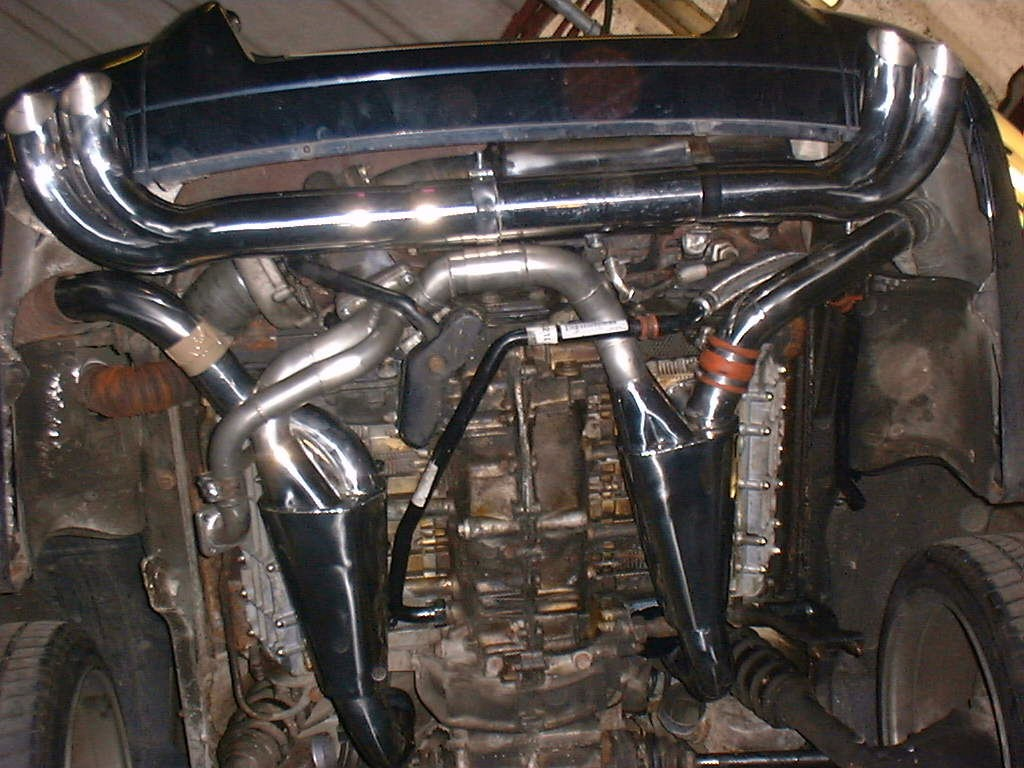 Porsche 964 Turbo complete system with 100 cell cat