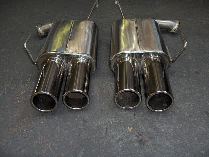 Impreza 2010 Rear Silencers Quad Outlet