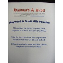Hayward & Scott Gift Voucher