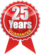 25 Year Guarantee to original buyer and vehicle
