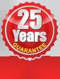 25 Year Guarantee to original buyer and vehicle